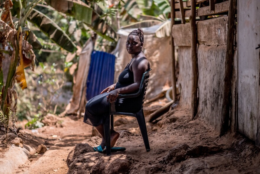 """Fatmata Dabo, 20 who lost her home and most of her family to last year's mudslide. """"In the past my mother was always there,"""" she says. """"But now she's gone."""""""