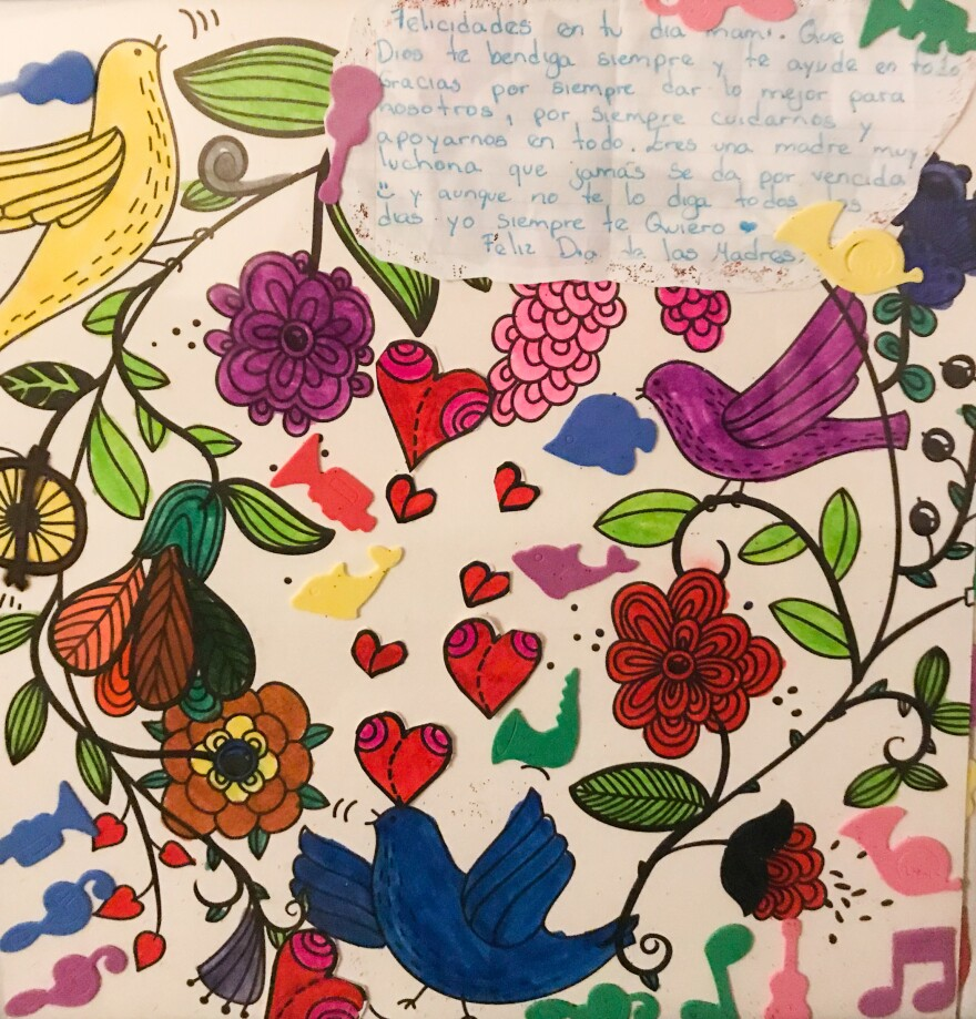 """When translated into English, this gift to Fatima from her eldest daughter says:  """"Happy Mother's Day! May God always bless you and help you with everything. Thank you for always giving us the best, and always taking care of us and supporting us in what we do. Even though I don't tell you this every day, I always love you."""""""