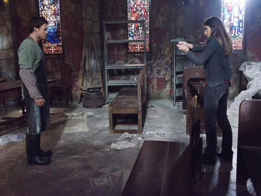 <em>Dexter</em>'s seventh season picks up where season six left off: with Debra Morgan (Jennifer Carpenter) discovering her brother Dexter's (Michael C. Hall) murderous secret.