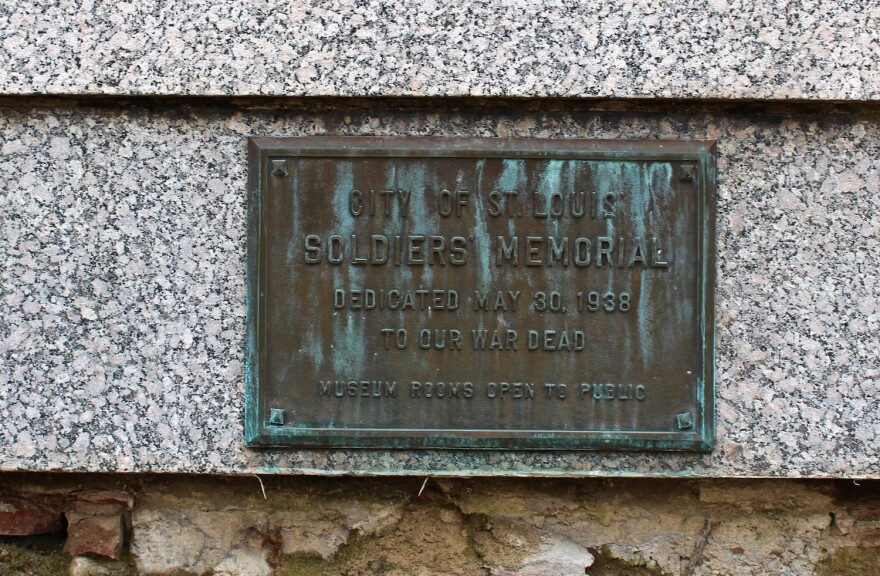 Plaque at the Soldiers Memorial. March 2017