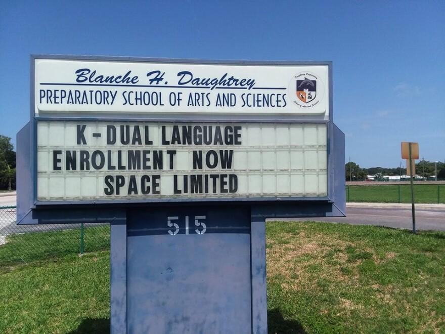 Sign for Daughtrey Elementary School in Bradenton