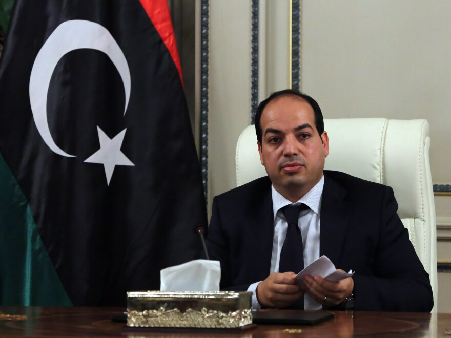 New Libyan Prime Minister Ahmed Maiteg meets with his ministers for the first time, on June 2 in Tripoli. A week later, he was out of office.