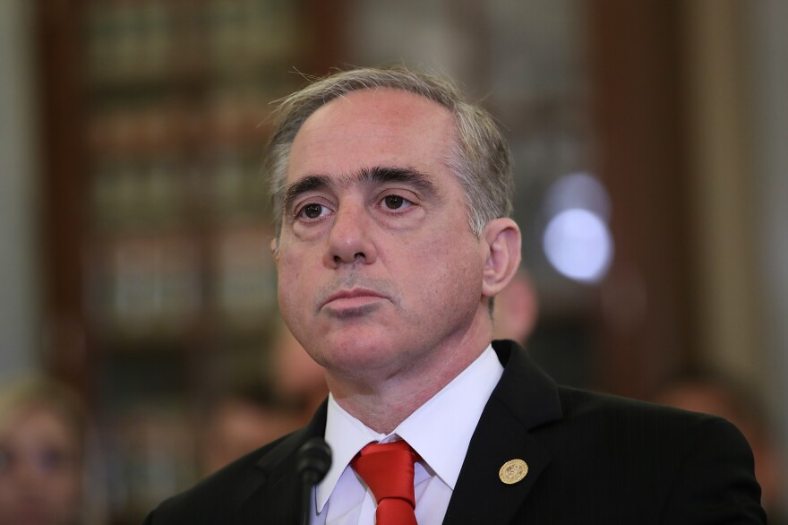 Ousted Veterans Affairs Secretary David Shulkin demurred from pointing a finger squarely at President Trump but described a VA riddled with political pressure and conflict.