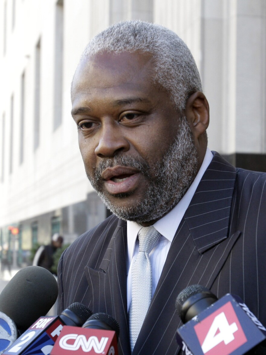<p>Anthony Chambers, legal adviser to Omar Farouk Abdulmutallab, talks to members of the media outside federal court in Detroit on Oct. 14, 2010. Chambers is expected to give the opening statement in court Tuesday.</p>