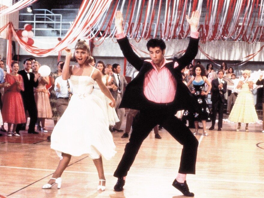 Olivia Newton-John as Sandy and John Travolta as Danny in the 1978 movie Grease, which was added this year to the National Film Registry at the Library of Congress.