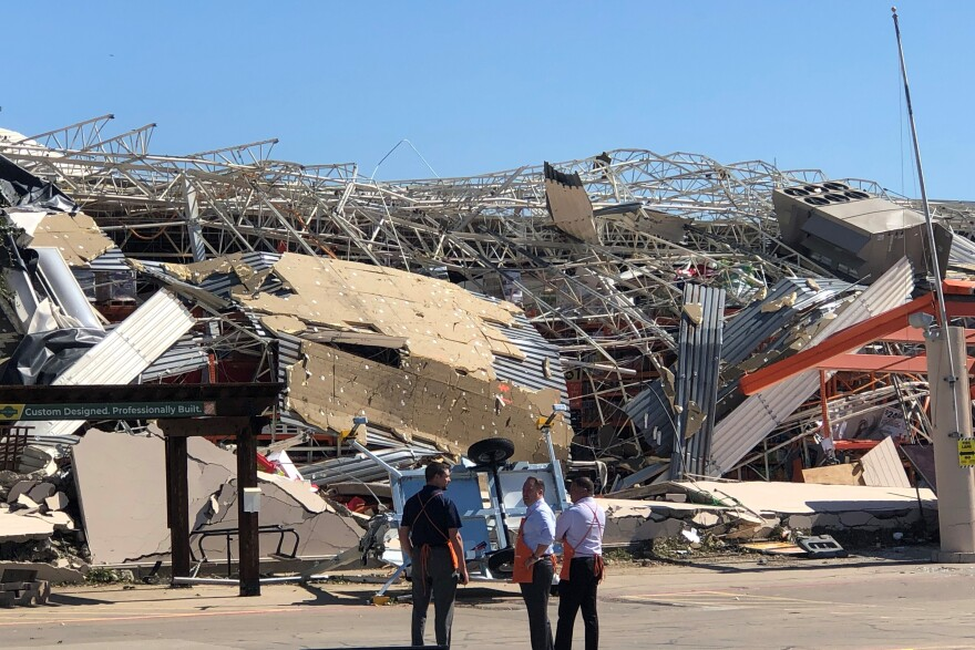 The Home Depot at Forest and Highway 75 sustained substantial damage from the Oct. 20 tornado.