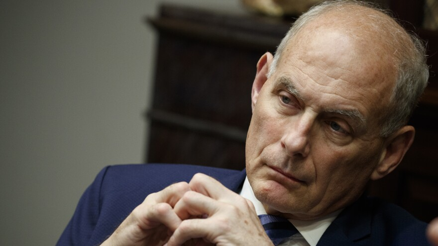 John Kelly took over as chief of staff six months into the Trump presidency, and he initially helped bring military discipline to a sometimes chaotic White House.