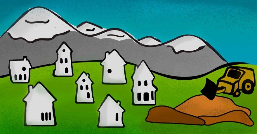 Illustration of valley construction.