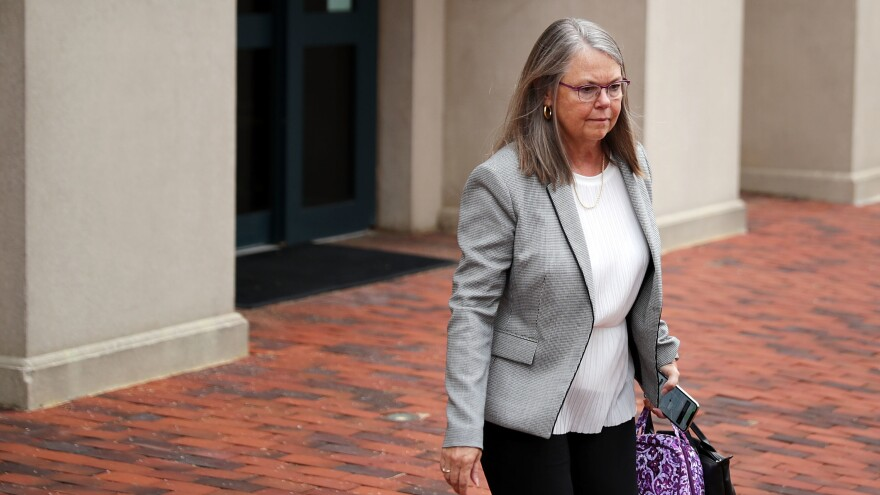 Accountant Cindy Laporta leaves the Justin W. Williams U.S. Attorney's Building at the conclusion of the fourth day of former Trump campaign chairman Paul Manafort's trial Friday in Alexandria, Va.