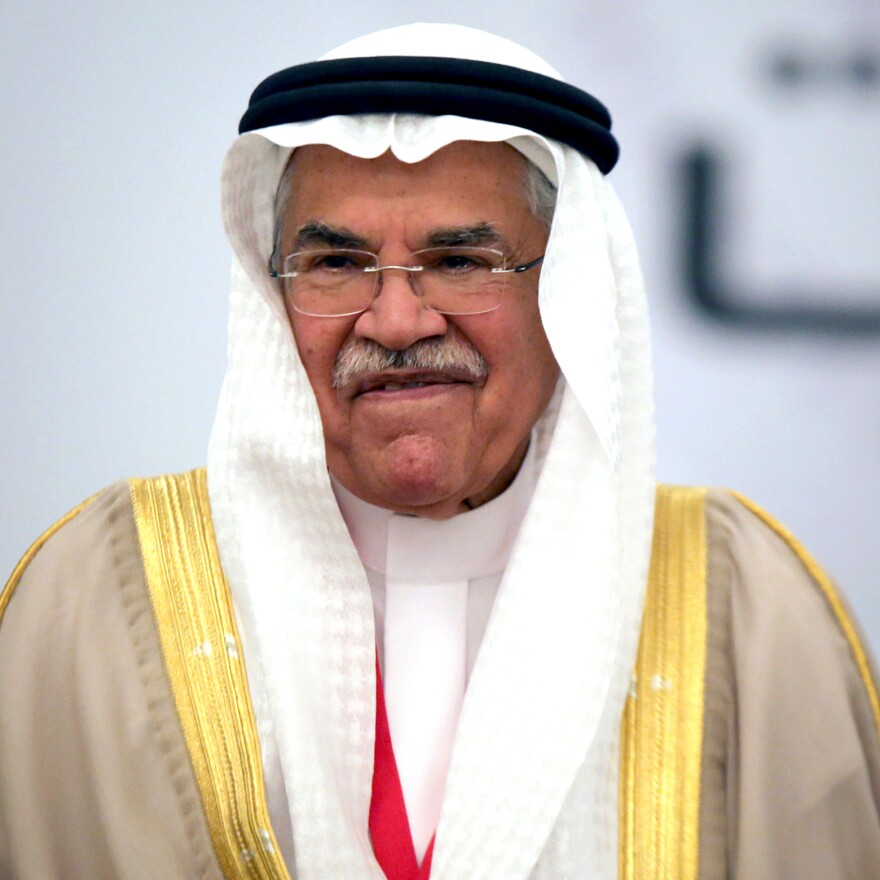 Saudi Arabia's oil minister, Ali Al-Naimi, shown in Kuwait last month, has played down the drop in oil prices. The country continues to pump oil at high levels, saying it wants to preserve its market share. But this has also contributed to a 25 percent drop in oil prices since June.