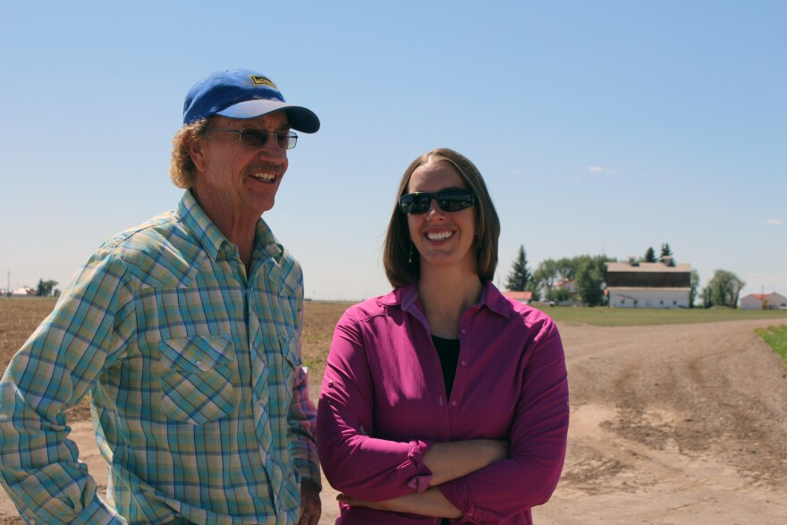 Potato farmer Doug Messick and his daughter Heather Dutton, manager of the San Luis Water Conservancy District