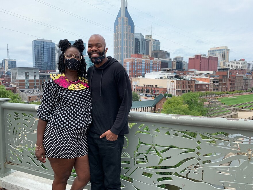 Kimberly Michaels and Marcus Robinson of Huntsville, Ala., drove to Nashville for a night to celebrate Robinson's birthday. The streets were crowded when they arrived and then quickly cleared as establishments closed at 10:30 p.m.