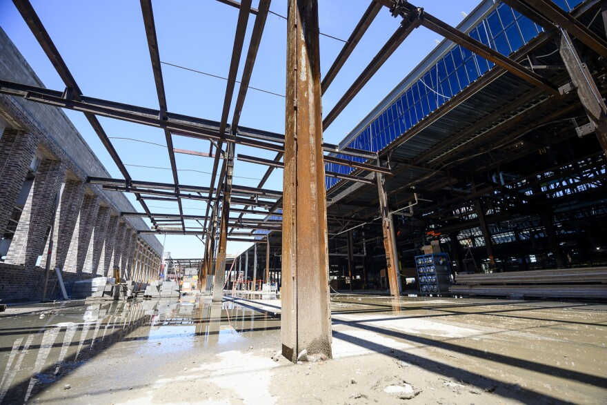 Developers of City Foundry STL are trying to keep as much of the original steel beams and brick as possible as they work on the roughly $220 million project.