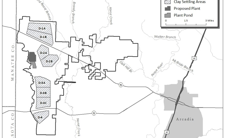 Map of the planned DeSoto County mine