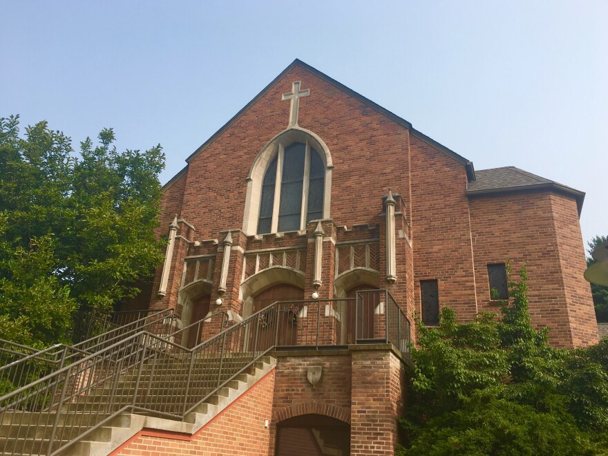 Saint Ursula's Parish held Saturday mass for the first time since the release of the state Attorney General's grand jury report alleging sexual abuse of minors.