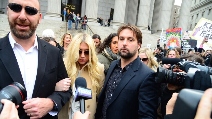 Kesha leaves the New York State Supreme Court.