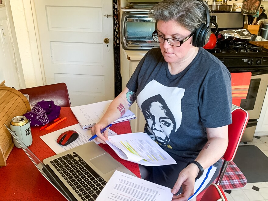 San Francisco librarian Lisa Fagundes was redeployed during the pandemic to work as a contact tracer.