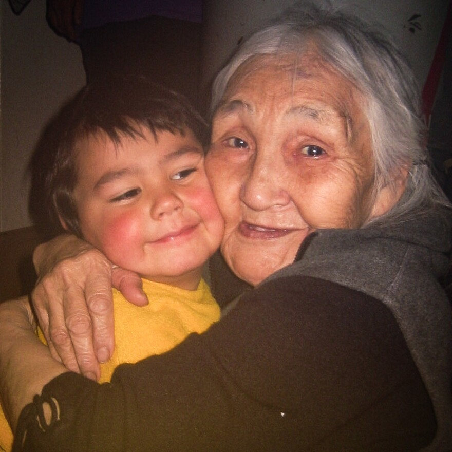 Sam Schimmel spent much of his childhood with his mother's family. His great-grandmother Estelle Oozevaseuk taught him stories and songs from her childhood.