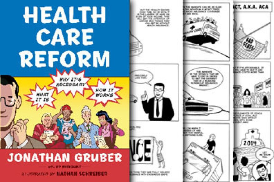 A comic book explains the federal law overhauling health care.