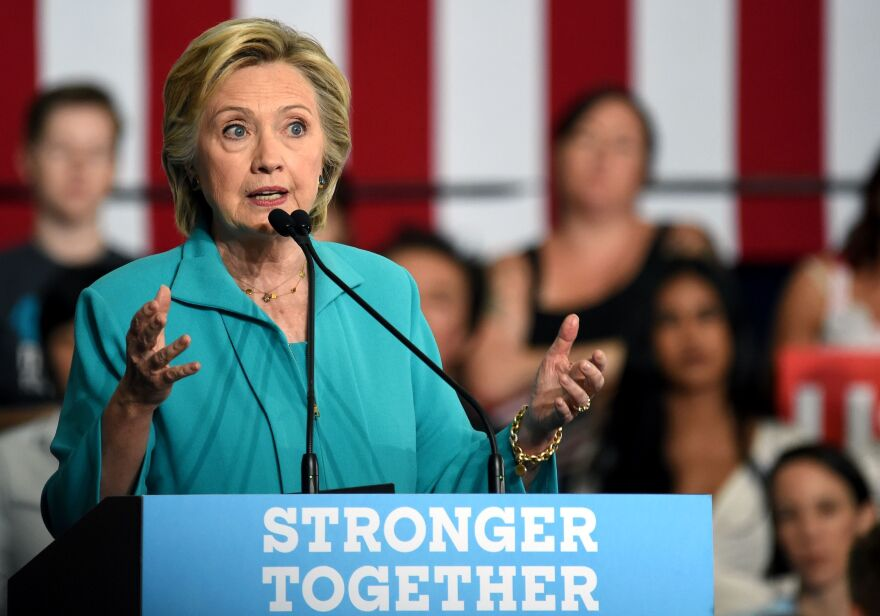 In a speech in Reno, Nev., on Thursday, Hillary Clinton drew connections between rival Donald Trump and hate groups.