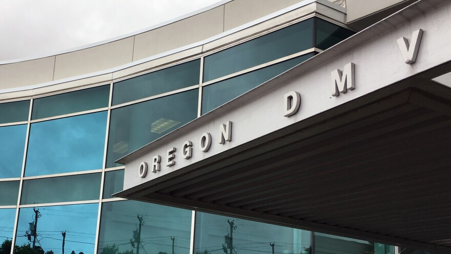 """The headquarters of Oregon's Driver and Motor Vehicles Division on Thursday in Salem, Ore. Oregon became the first state to allow residents to mark their gender as """"not specified"""" on applications for driver's licenses."""