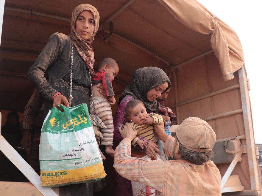 Syrian refugees continue to arrive in Jordan, where they are greeted by authorities and sent to refugee camps and temporary settlements.