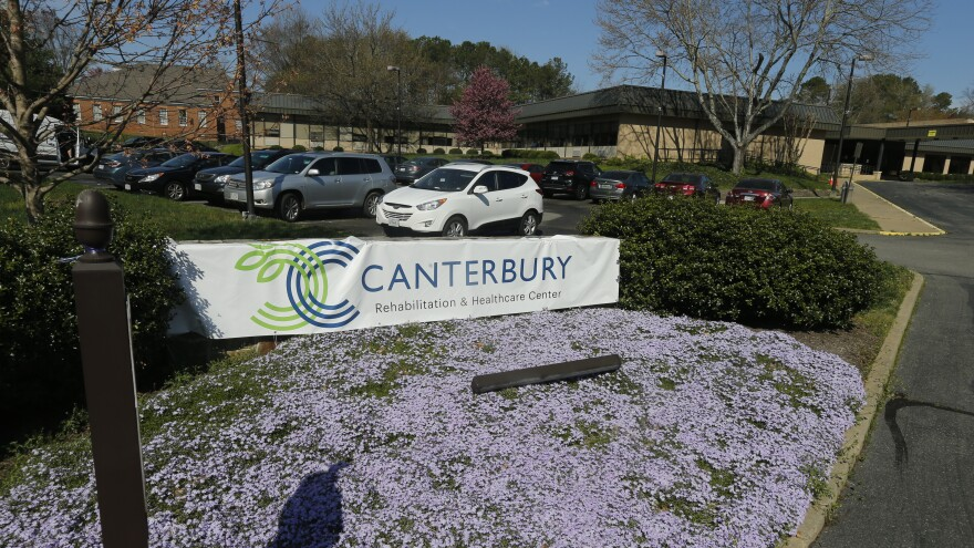 The Canterbury Rehabilitation & Healthcare Center is a hot spot for the coronavirus in Richmond, Va. It's one of 56 facilities with an outbreak.