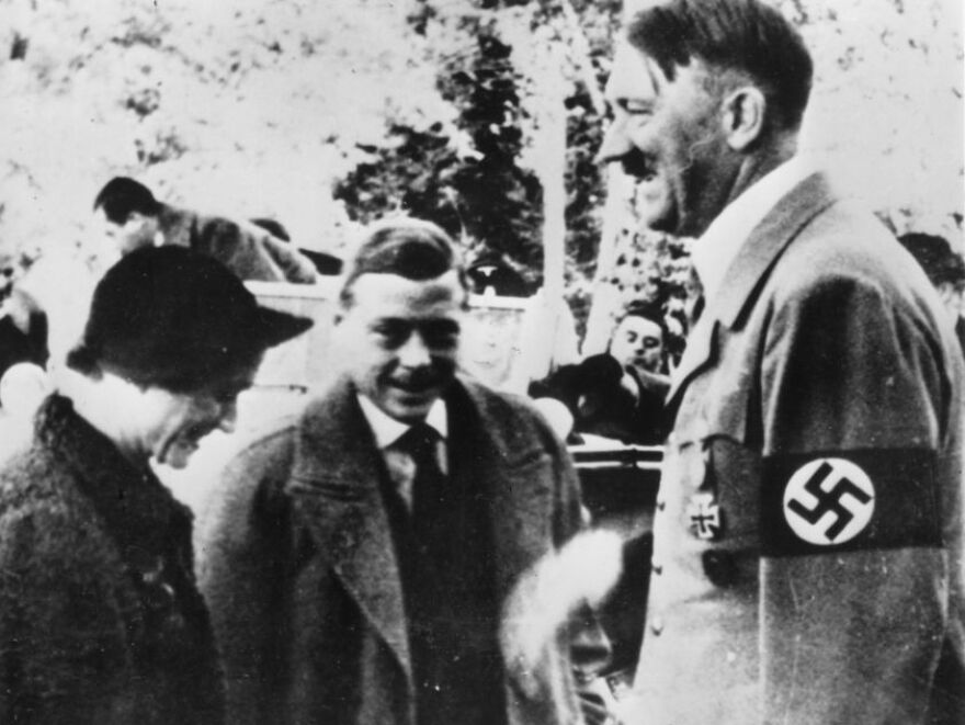 The Duke and Duchess of Windsor meet Adolf Hitler in Germany in 1937.