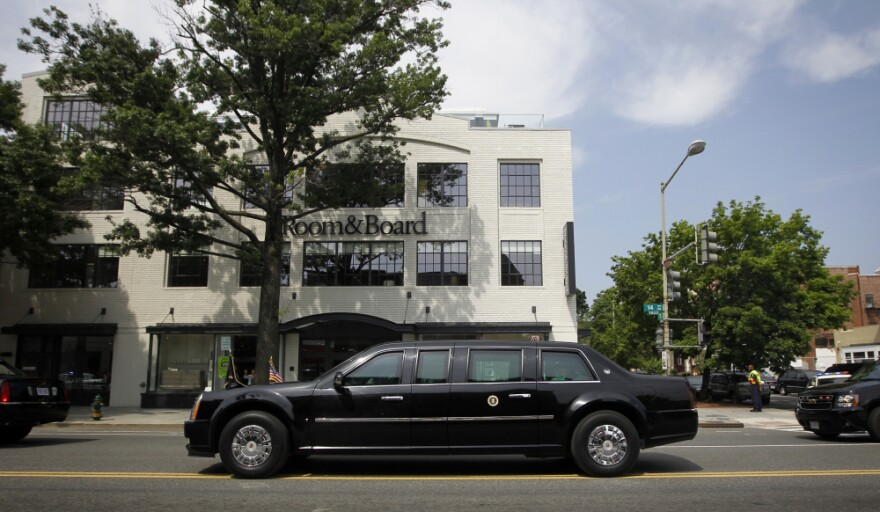 President Obama's limo in what was, in part, the world's most impressive lunch run, Washington, May 16, 2012.
