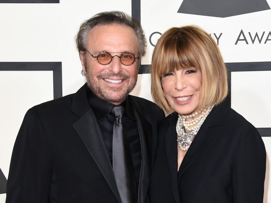 Barry Mann (L) and Cynthia Weil attend The 57th Annual Grammy Awards Feb. 2015 in Los Angeles.