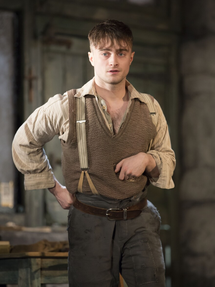 Daniel Radcliffe's character Billy is a crippled 17-year-old boy whose parents drowned in a mysterious boating accident.