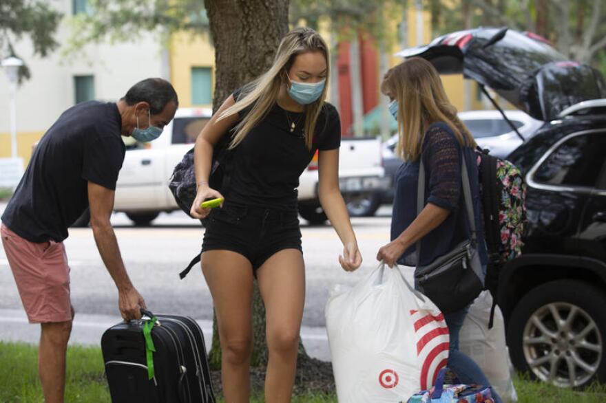USF freshman Fernanda Kolanian, 17, arrives at USF