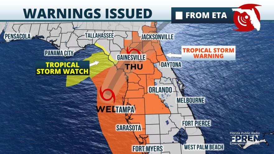 tropical storm warning map