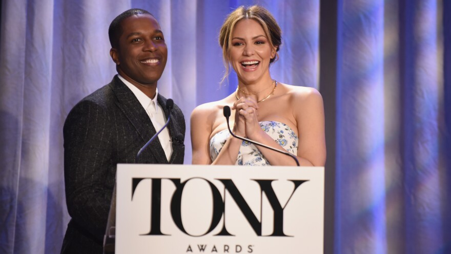 Actors Leslie Odom Jr. and Katharine McPhee announced the nominations for the 2018 Tony Awards on Tuesday in New York City.