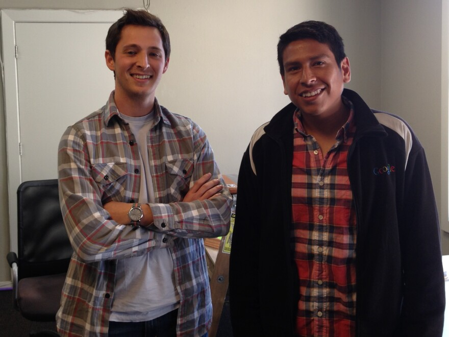Alex Livingston and Eddie Santillan have convinced investors to fund their salary and expenses while they look for a solid company with good earning potential.
