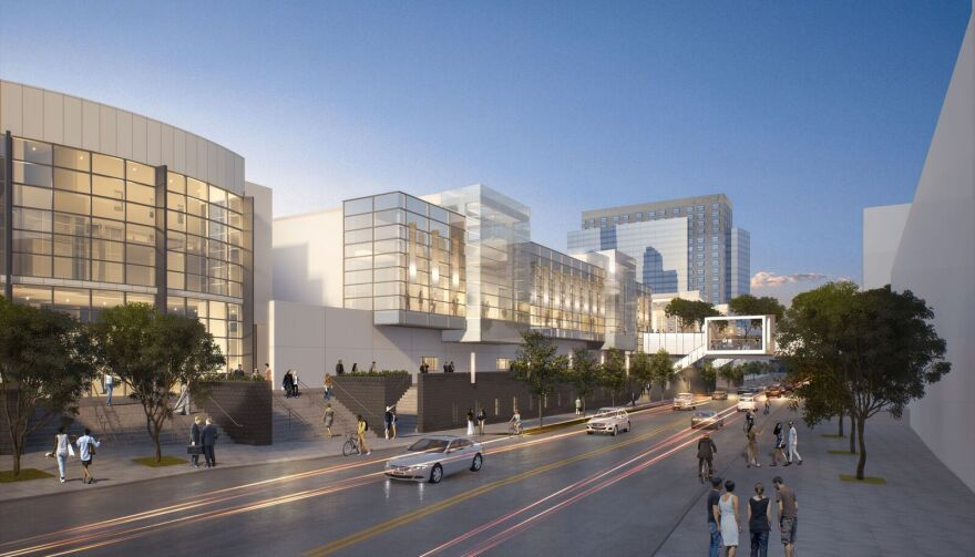 Rendering for Charlotte Convention Center expansion