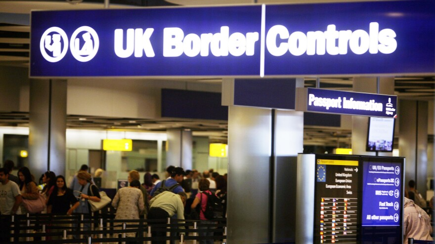 Border Control at London's Heathrow Airport.