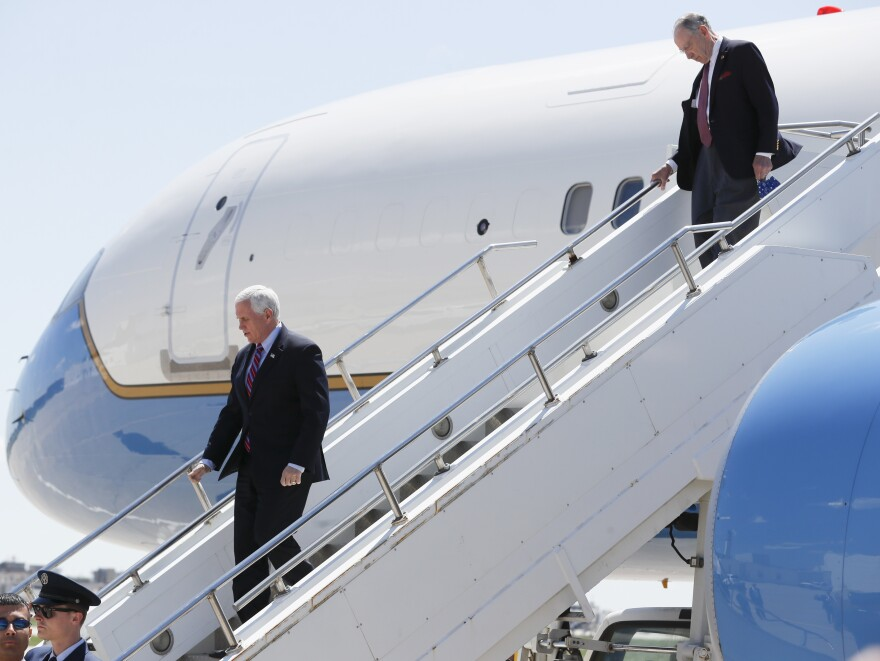 Vice President Pence's flight to Iowa was delayed more than an hour Friday morning after one of his staffers tested positive for coronavirus. The White House had six people to deplane Air Force Two before it left.