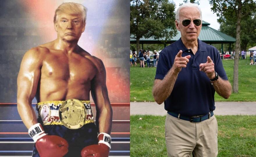"""Trump as """"Rocky"""" side by side with President-elect Joe Biden"""