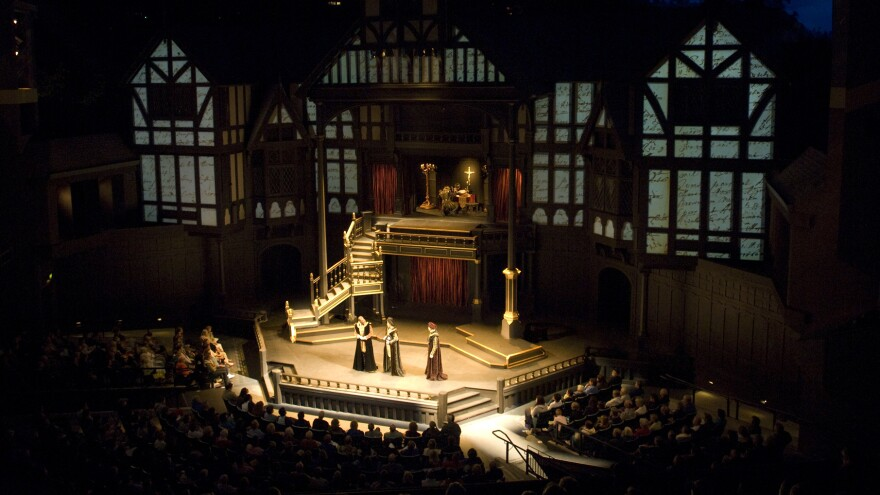 """The Oregon Shakespeare Festival's Allen Elizabethan Theatre, featuring a production of """"A Midsummer Night's Dream."""""""