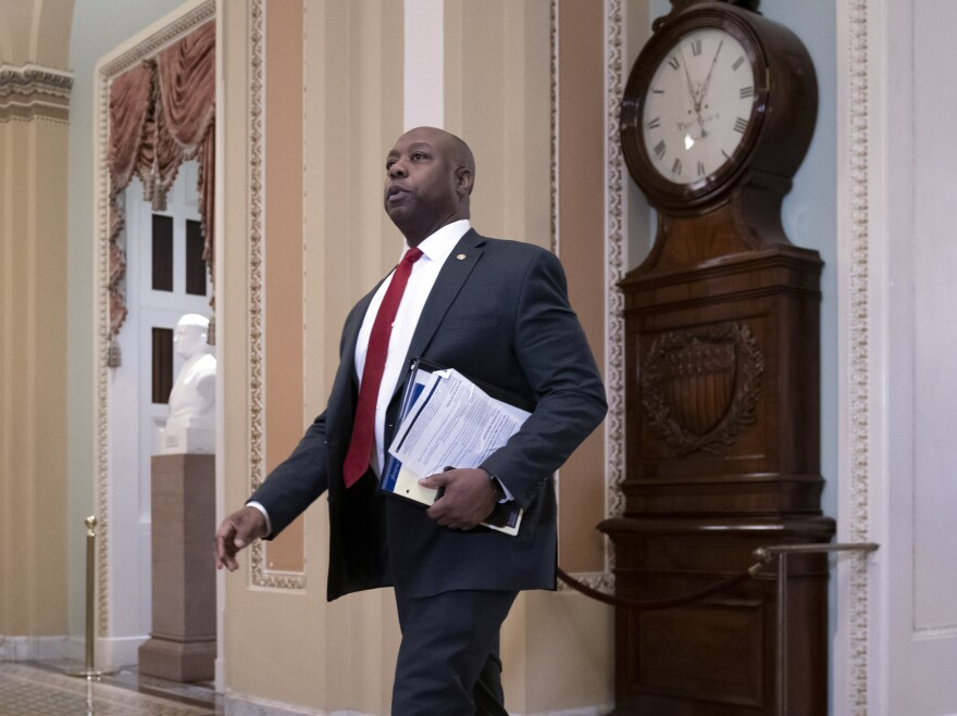 Sen. Tim Scott, R-S.C., is heading up a working group to draft a legislative response for Senate Republicans on issues of racial discrimination that have become more prominent since George Floyd's killing.