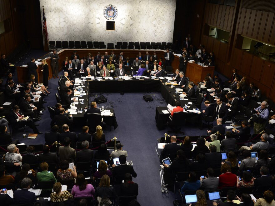 The Senate Judiciary Committee meets to work on immigration legislation on May 9.