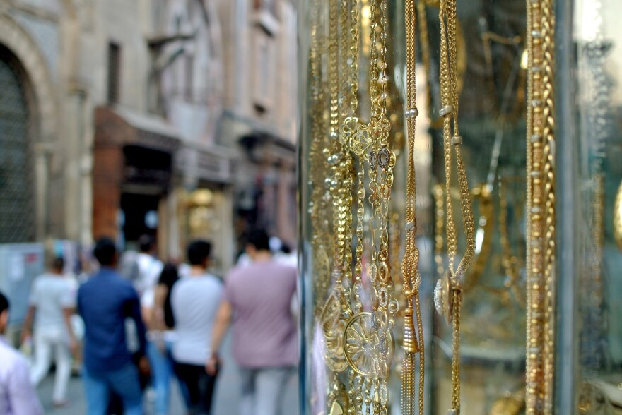 In some of Cairo's working-class communities, the groom is responsible for providing the apartment and furniture, while the bride provides a refrigerator, stove and washing machine. The engagement is sealed with a gift of gold jewelry from groom to bride.