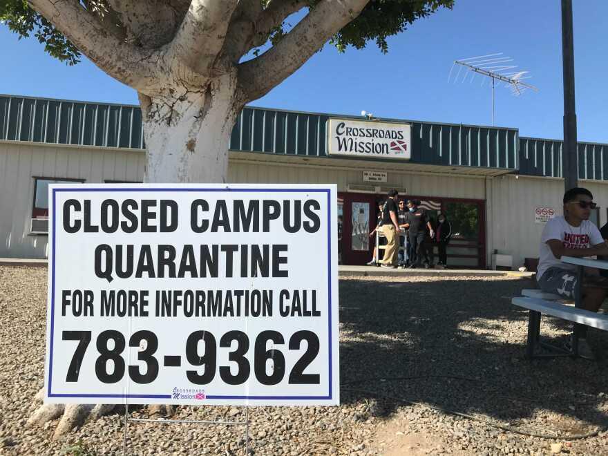 Crossroads Mission in Yuma, Arizona. (Peter O'Dowd/Here & Now)
