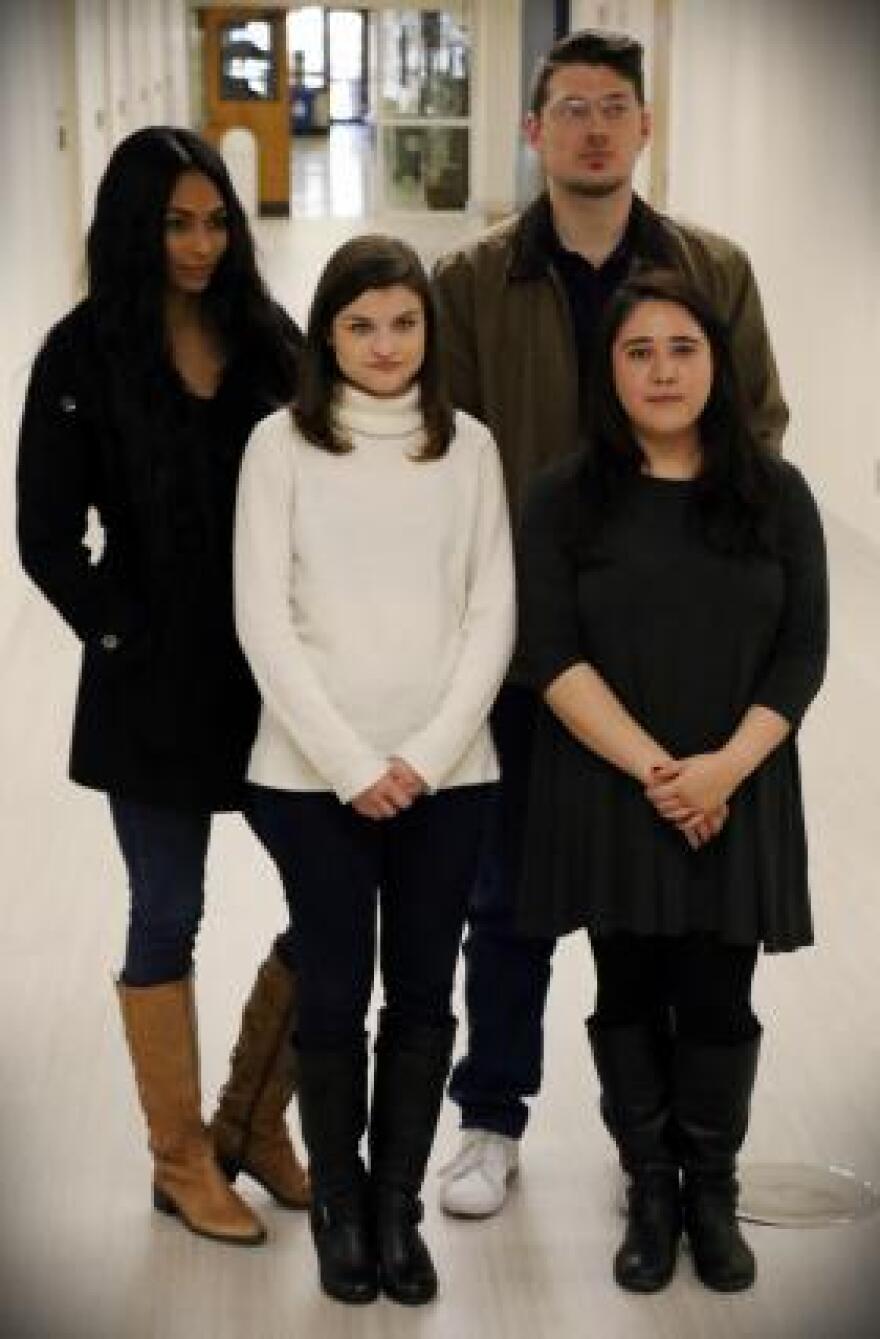 Fall 2017 Digital Media Lab contributors Lindsey Guimont, Andrea Johnson, Alex Nicoll and Kayla Nunez