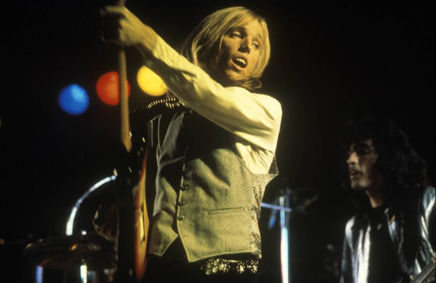 Tom Petty, seen here during a United Kingdom performance, died Monday at the age of 66.