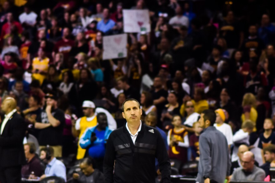 a photo of former Cavs coach David Blatt