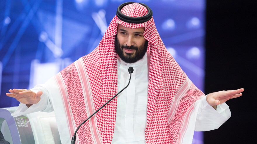 "Saudi Crown Prince Mohammed bin Salman said Saudi Arabia is cooperating with Turkey to investigate the Jamal Khashoggi killing, ""to present the perpetrators to the court."""