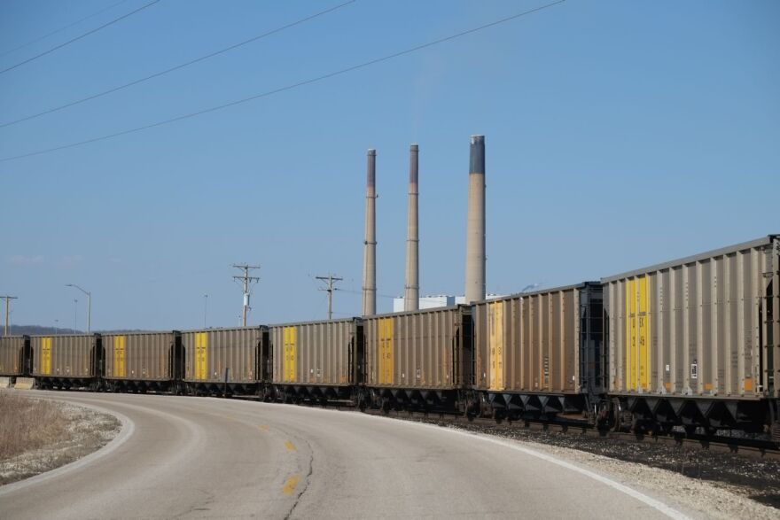 Every year, Ameren's Labadie power plant consumes about 10 million tons of coal, imported by train from Wyoming.