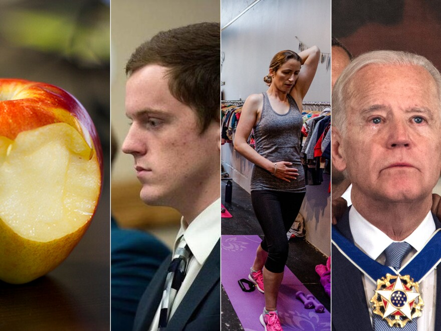 Top Stories from left to right: If Raw Fruits Or Veggies Give You A Tingly Mouth, It's A Real Syndrome; No Jail Time For 19-Year-Old In Idaho Coat-Hanger Assault Case; Flattening The 'Mummy Tummy' With 1 Exercise, 10 Minutes A Day; In A Surprise Send-Off, Obama Awards Biden Presidential Medal Of Freedom.